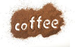 Coffee Spilled Royalty Free Stock Photo