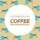 Coffee Spilling Background Stock Photography