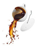 Coffee spilling Royalty Free Stock Photos