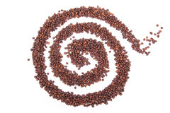 Coffee spiral figure Stock Images