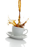 Coffee Splash Stock Image