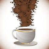 Coffee splash  design Stock Photography