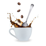 Coffee splash royalty free stock image