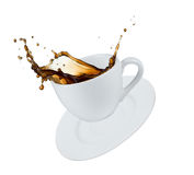 Coffee splash Royalty Free Stock Images