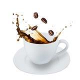 Coffee splash Stock Images