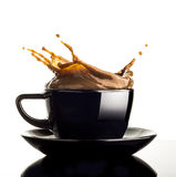 Coffee splash Stock Images
