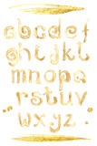Coffee splash special font, abc a-z small letters Stock Photos