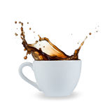 Coffee splash. On white background Royalty Free Stock Image