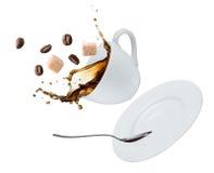Coffee splash royalty free stock photos