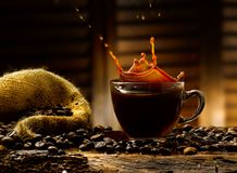 Coffee splashes Royalty Free Stock Photography