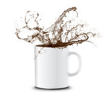 Coffee splashing Royalty Free Stock Photography