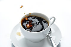 Coffee splashing Royalty Free Stock Photos