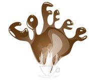 Coffee splashing text Stock Photos