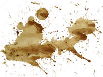 Coffee splatter. Cut out on and isolated on a white background Royalty Free Stock Photo