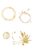 Coffee Splatters and Cup Rings Stock Photography