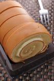 Coffee Sponge cake Stock Photography