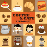 Coffee square vector set Stock Images