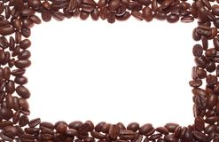 Coffee square-wave frame Stock Image