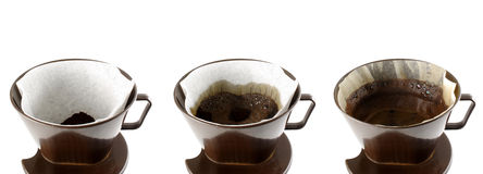 Coffee stages. Photo of Coffee stages on white background Royalty Free Stock Image