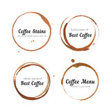 Coffee stain circles for logo Stock Photography