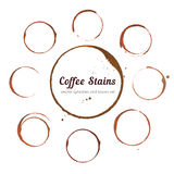 Coffee stain circles Royalty Free Stock Photography