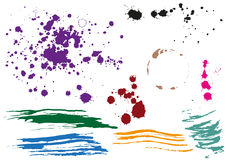 Coffee stain. Colored blobs. Multi colored blots Stock Image