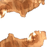 Coffee stain on paper Royalty Free Stock Images
