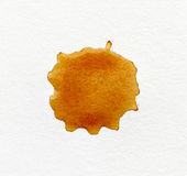 Coffee stain on paper Stock Photography