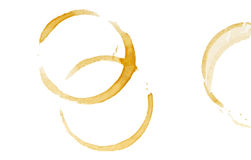 Coffee stain rings Royalty Free Stock Photos