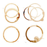 Coffee Stain Rings Vector Stock Images