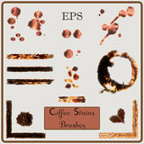 Coffee Stain Set. On Beige Background royalty free illustration