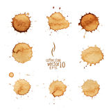 Coffee stain watercolor vector. Royalty Free Stock Photos