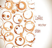 Coffee stain on a white background Royalty Free Stock Photography