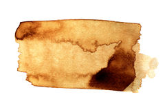 Coffee stain  Royalty Free Stock Images