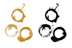 Coffee stains. An illustration of coffee stains Royalty Free Stock Images