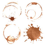 Coffee stains Stock Images