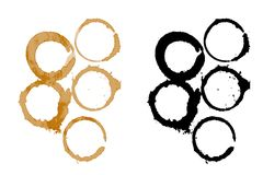 Coffee stains 3. An illustration of coffee stains Royalty Free Stock Photo