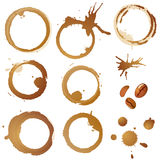 Coffee Stains and Grains Stock Photo