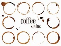 Coffee stains. Isolated vector illustration Royalty Free Stock Photos
