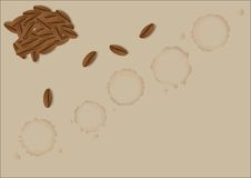 Coffee stains Royalty Free Stock Photography