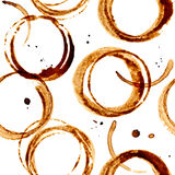 Coffee stains seamless pattern Royalty Free Stock Image