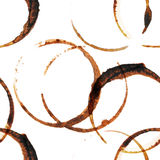 Coffee stains seamless Royalty Free Stock Photography