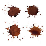 Coffee stains vector Stock Image