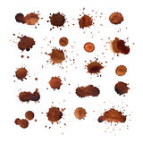 Coffee stains vector set Royalty Free Stock Image