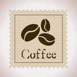 Coffee stamp Stock Images