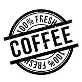 Coffee stamp rubber grunge Royalty Free Stock Photo