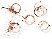Coffee stamp. With coffee textures royalty free stock photography