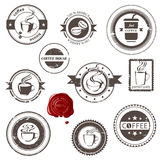 Coffee stamps Royalty Free Stock Photo