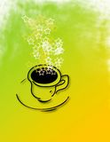Coffee Star Quality. Computer generated image. Coffee cup with bright morning colors and stars steaming Stock Photography