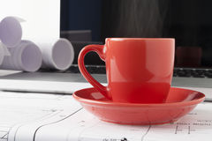 Coffee Steam Royalty Free Stock Images